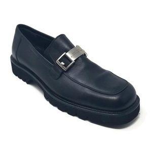 Donald Pliner Leather Slip On Loafers Lug Sole 9.5